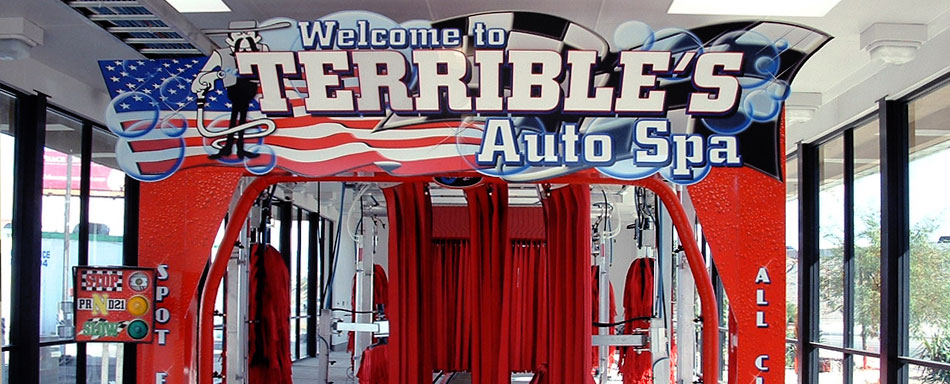 Sign Companies Las Vegas Terribles Car Wash Design Sample