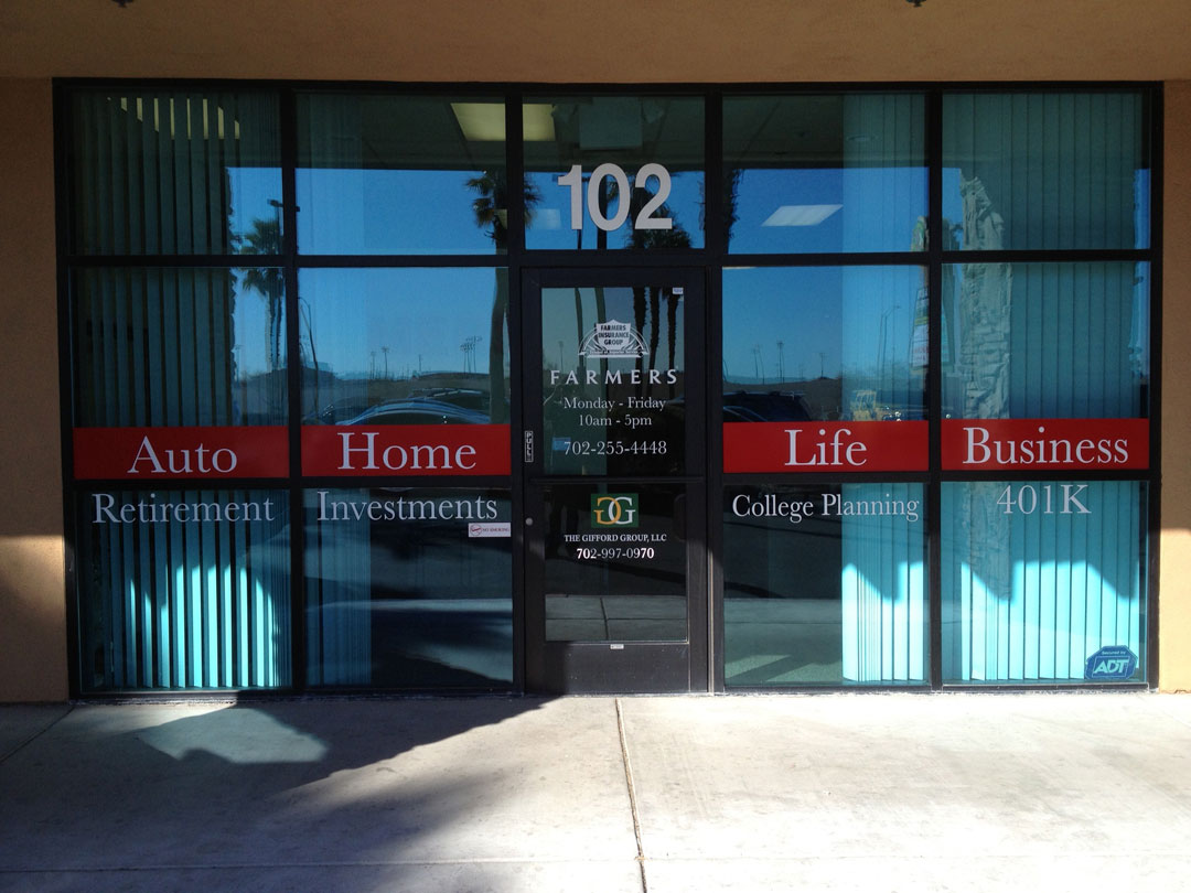 Store front signage for Window transfers