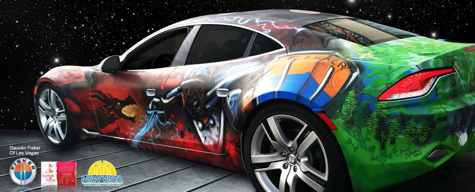 Custom Artistic Vehicle Wrap for Gaudin Las Vegas